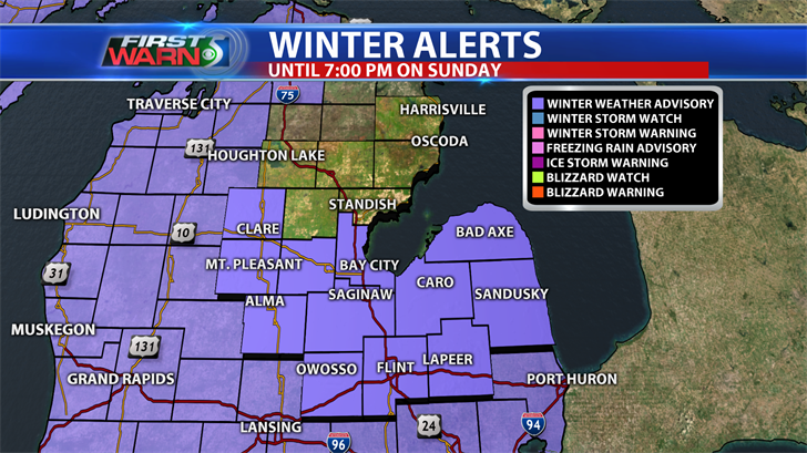 Forecasters issue winter weather advisory for Monday