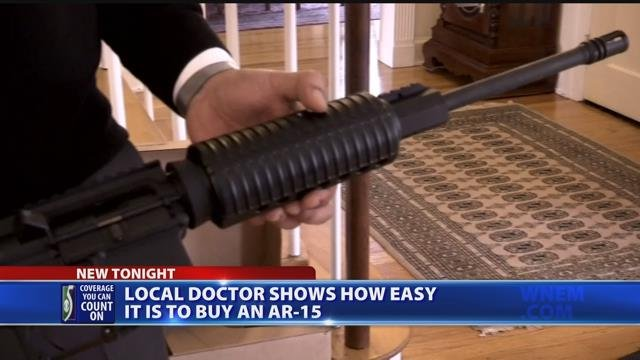Video: Flint doctor buys assault rifle to show the purchase process