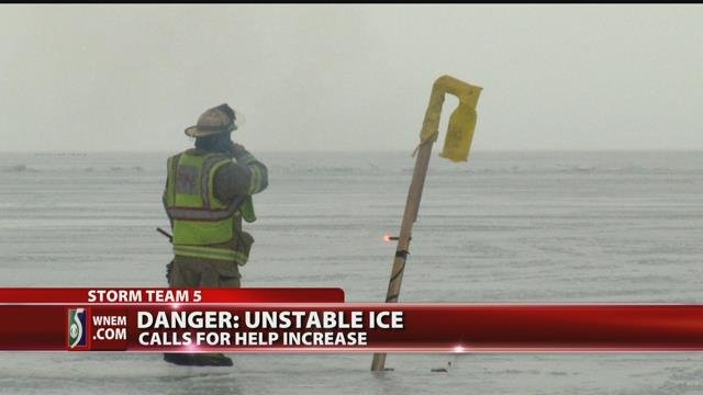Video: Experts urge fishermen to stay off ice