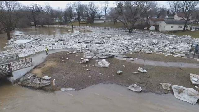Drone 5: Checking out the scene at Cole Park in Chesaning