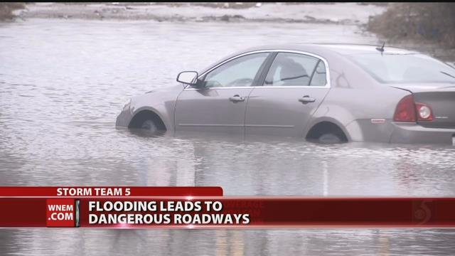 Video: Sheriff urges drivers to avoid flooded roadways