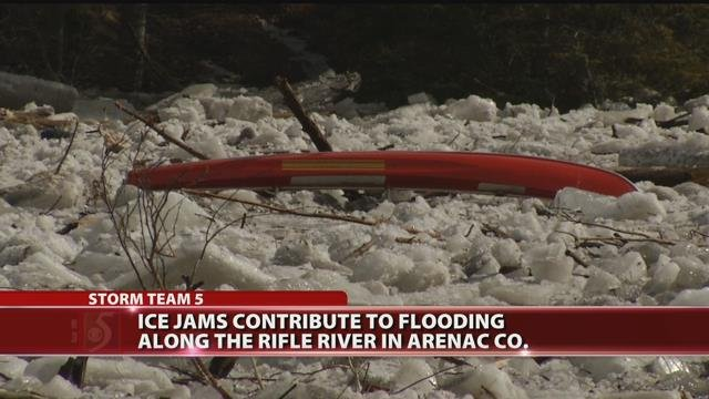 Ice jams contribute to flooding along Rifle River in Arenac County