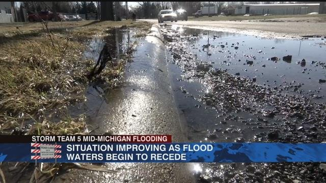 Situation improving as flood waters begin to recede