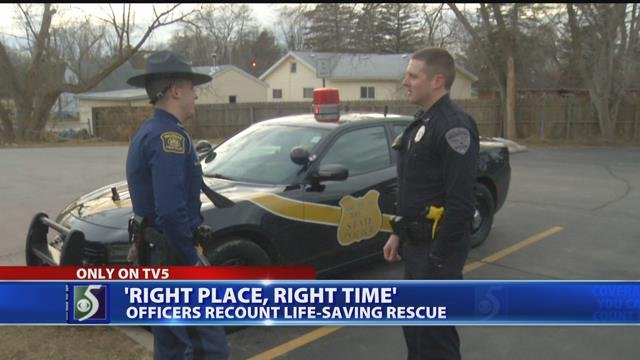 Video: Bridgeport woman saved from house fire by officer, trooper