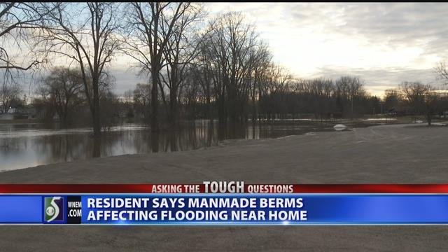 Video: Man says township to blame for flooding