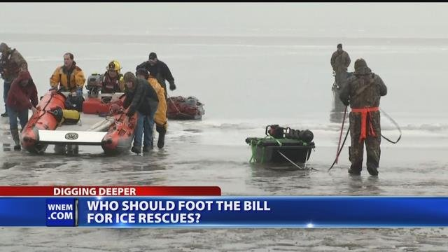 Video: Firefighters in overtime from ice rescues, but who pays for it?