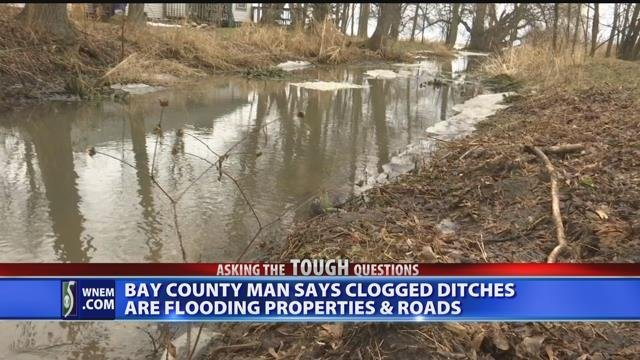Video: Bay County man demands action after his property floods