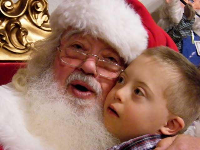 Lucas with Santa Gary
