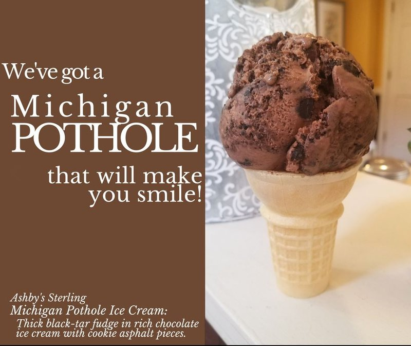 Image result for Motorists offered ice cream as sweet relief from potholes