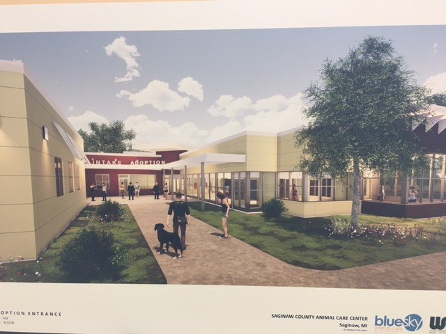 Rendering of the proposed animal shelter (Source: Saginaw County Animal Control)