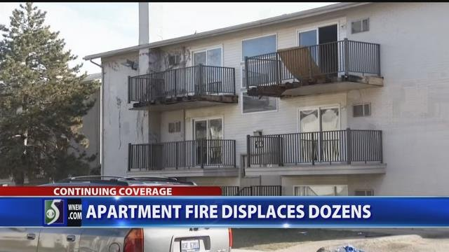 Video: Dozens displaced by apartment complex fire