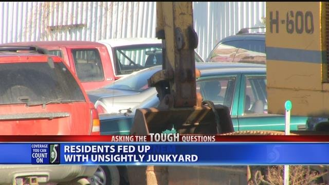 Video: Residents fed up with unsightly junkyard