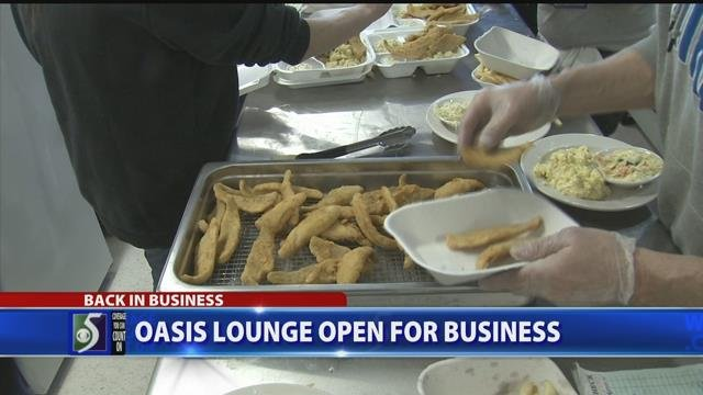 Oasis Lounge open for business