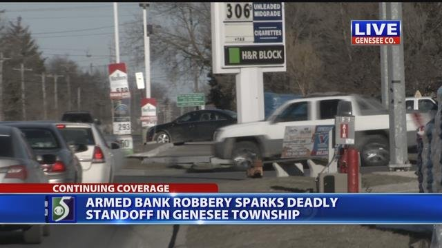 Armed bank robbery sparks deadly standoff in Genesee Township