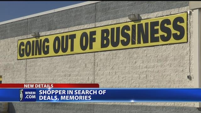 Shoppers in search of deals, memories