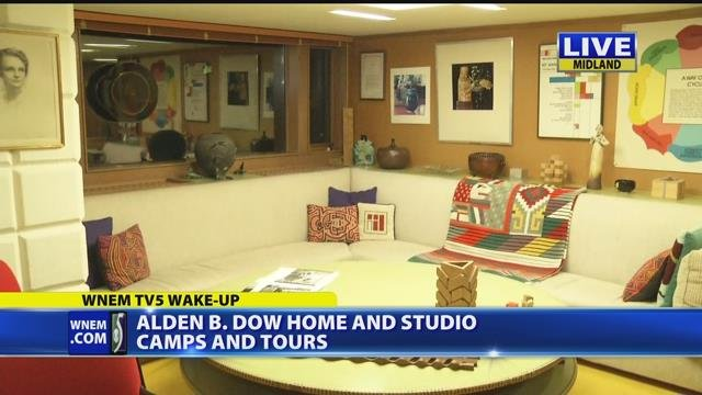 Alden B. Dow home and studio camps and tours 5 a.m.