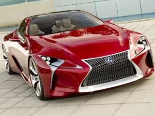 The overall shape of the 2012 Lexus LF-LC Concept closely resembles the lines of the 2012 Lexus LFA supercar. (©Toyota Motor Sales, U.S.A., Inc.)