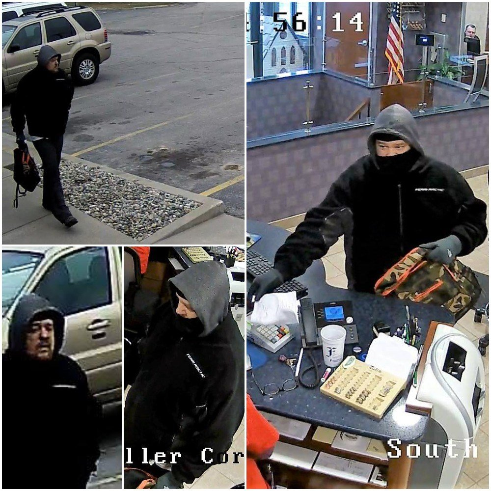 Sheridan Schools Closed Thursday As Manhunt For Suspects: Surveillance Images Released Of Saginaw Twp. Robbery
