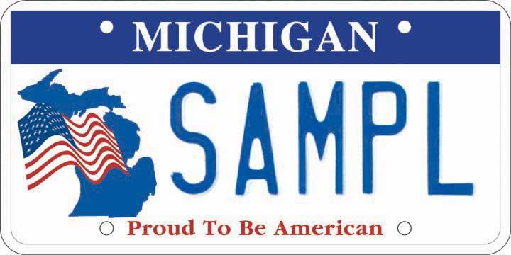 Patriotic License Plate