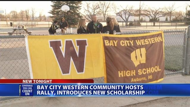 Bay City Western community hosts rally, introduces new scholarship