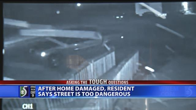 Video: Family wants action after car crashes into home