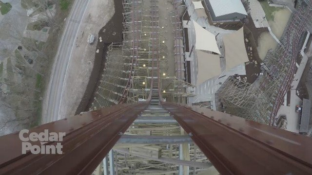 Take a ride on Cedar Point's new roller coaster 'Steel Vengeance'