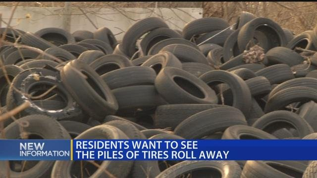 Video: Residents want to see piles of tires roll away