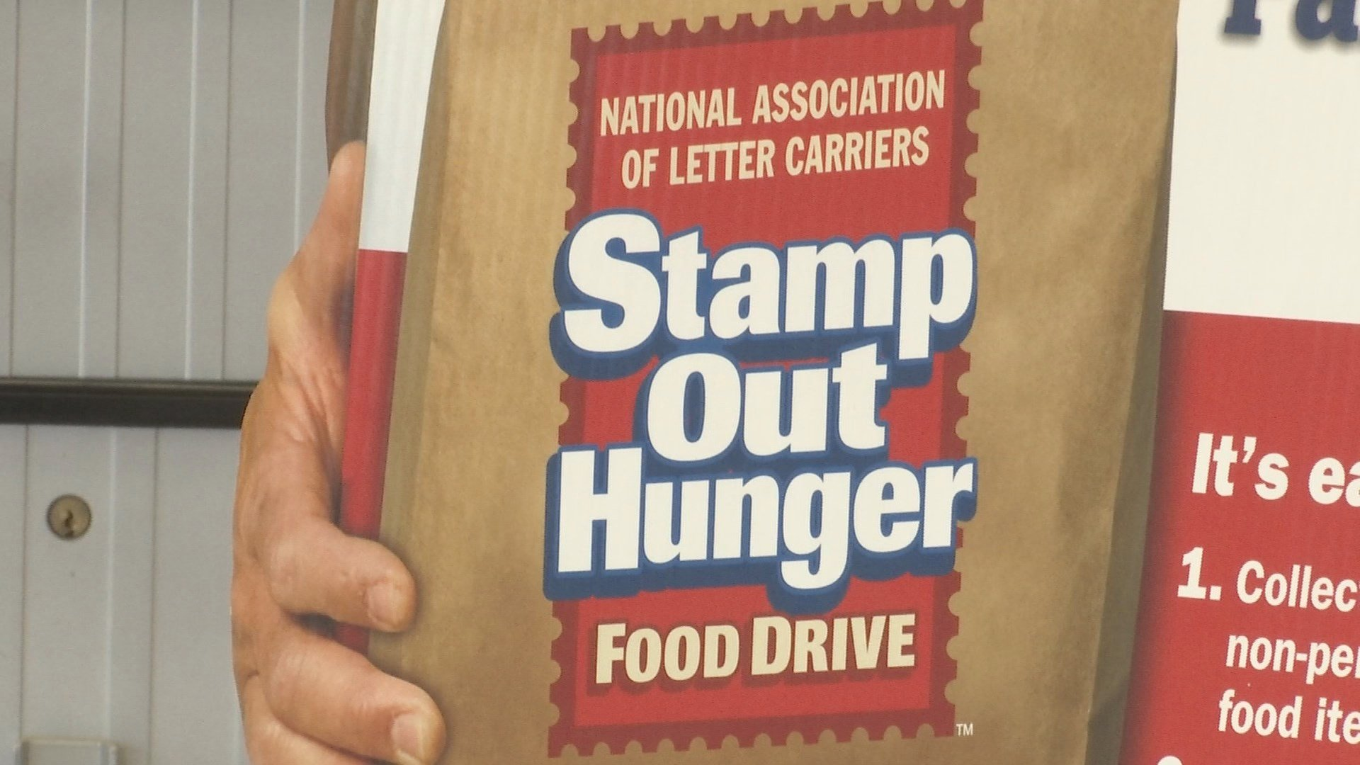 Postal carries help 'stamp out hunger'