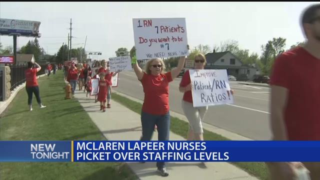 McLaren Lapeer nurses picket over staffing levels