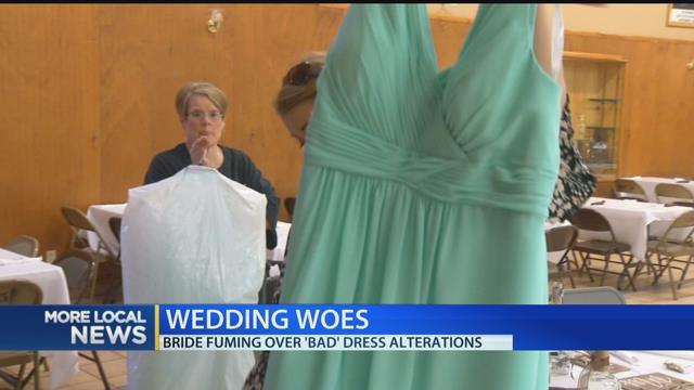 Bride fuming over bad dress alterations