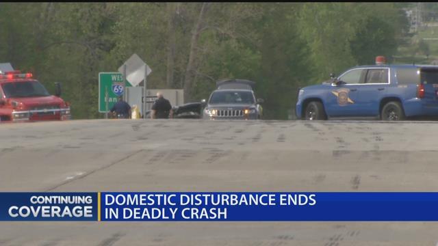 Domestic disturbance ends in deadly crash