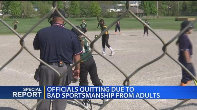 Officials quitting due to bad sportsmanship from adults