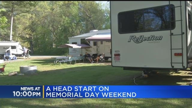 Campers get head start on Memorial Day weekend