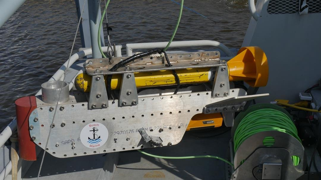 The team will use this sonar sled to try to locate the plane. (Courtesy: Greg Busch)