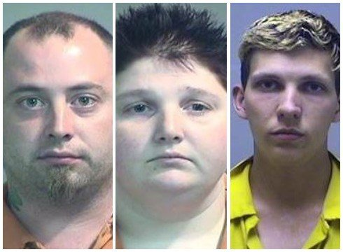 Left to right: Jeffrey Jones, Emily Burrison and Auston Rose (Source: Genesee County Jail)