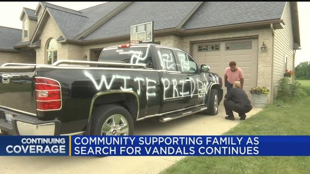 Community supporting family as search for vandals continues