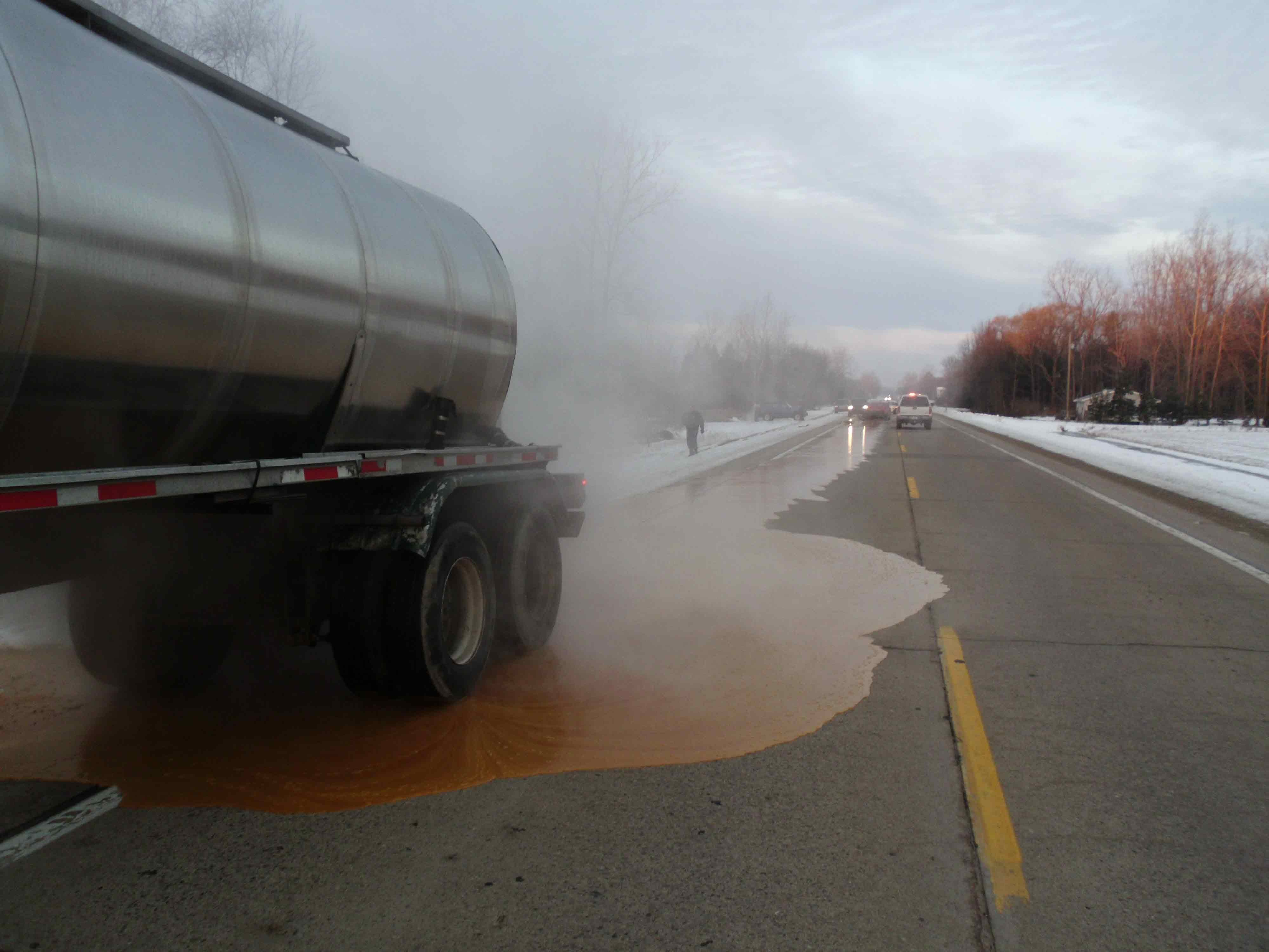 Roadway reopened following crash corn syrup spill wnem tv 5
