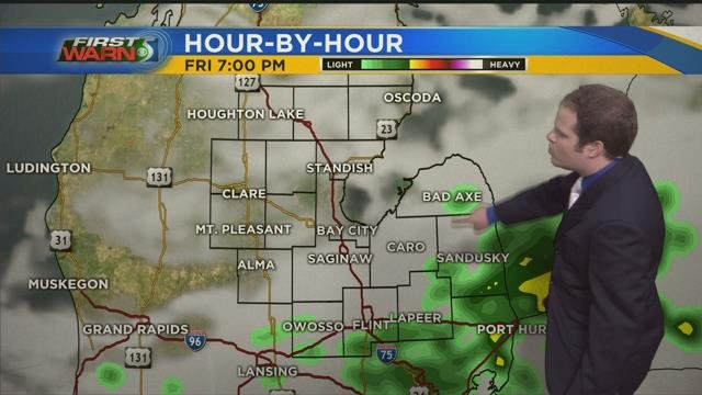 Spotty showers possible throughout the day