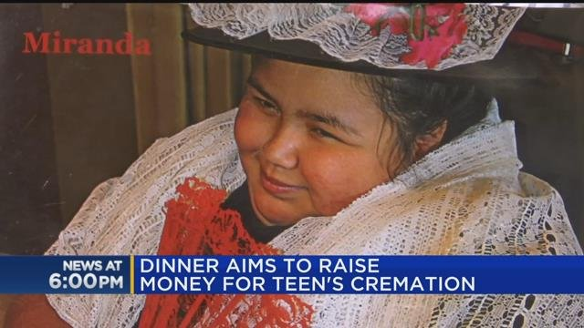Dinner aims to raise money for teens cremation