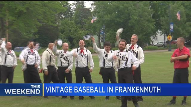 Vintage baseball in Frankenmuth