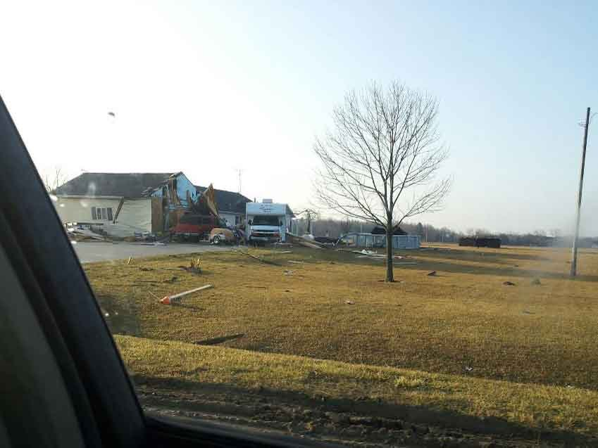 Storm Damage in Coleman/Photo Jamie Campbell