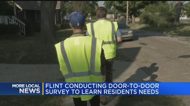 Flint conducting door-to-door survey to learn residents needs