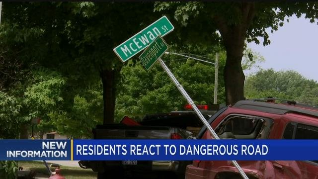 Residents react to dangerous road