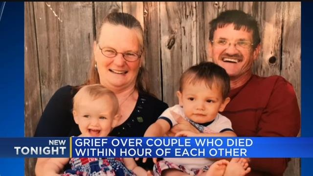 Grief over couple who died within hour of each other