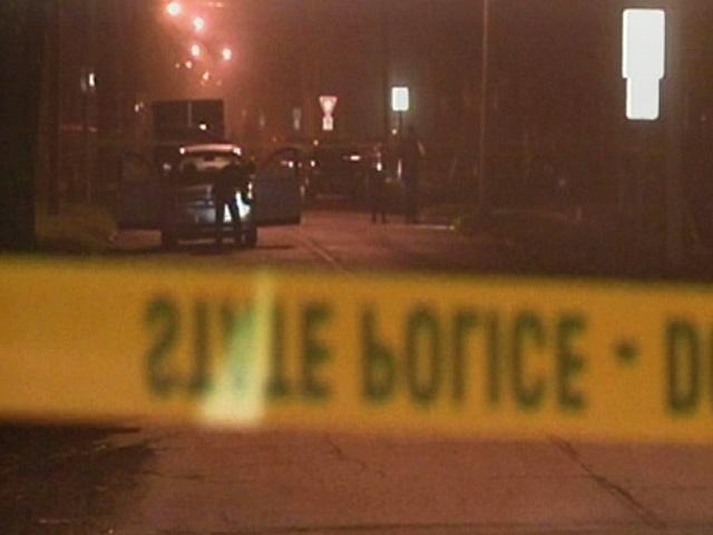 Police investigating crime scene