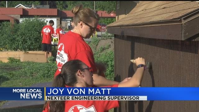 Nexteer gives back by improving local community garden