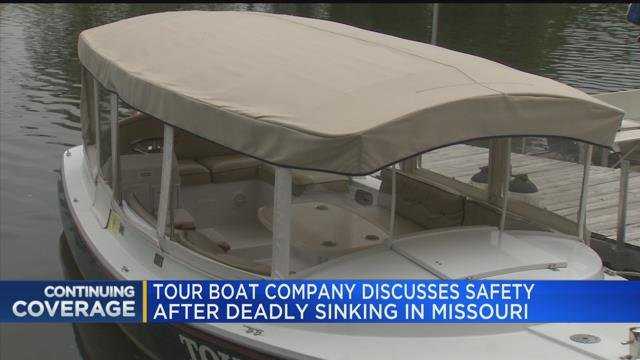 Tour boat company discusses safety after deadly sinking in Missouri
