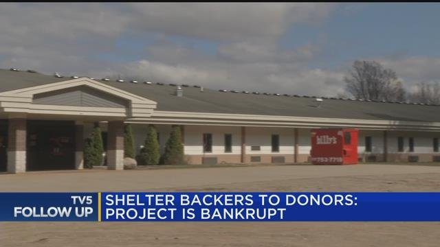 Shelter backers to donors: Project is bankrupt