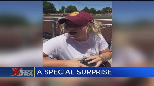 CMU student-athlete receives touching gift