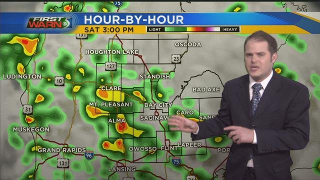 Showers stick around for your Saturday